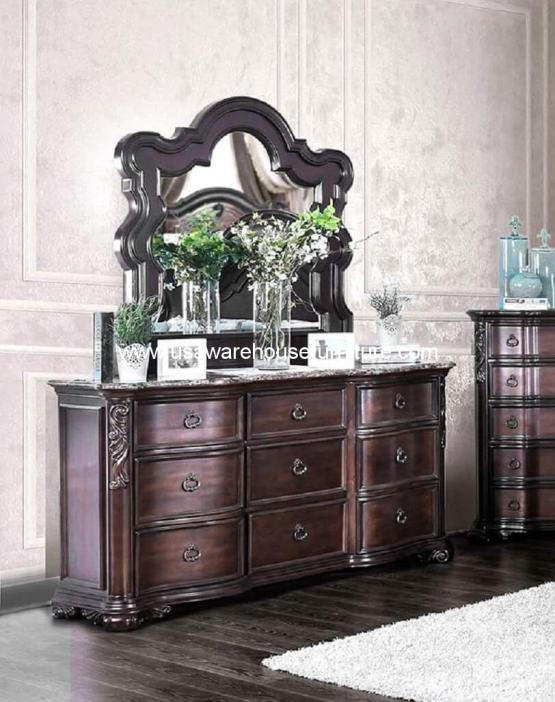 Arcturus 9 Drawer With Marble Top Dresser