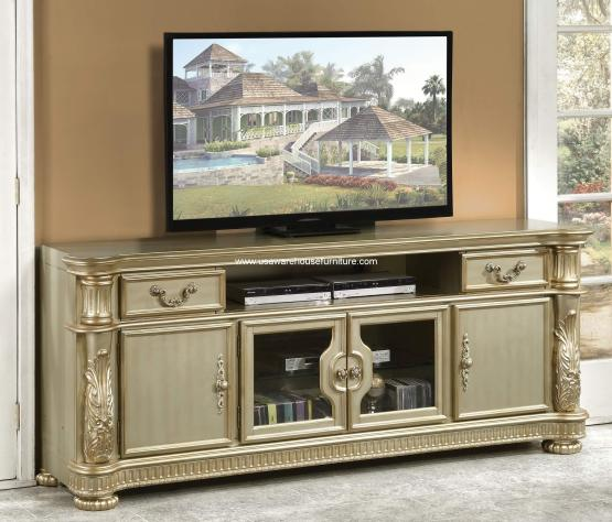 4 Piece Vendome Cherry Oak Entertainment Center Usa