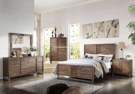 Andria Panel Bedroom Set Reclaimed Oak