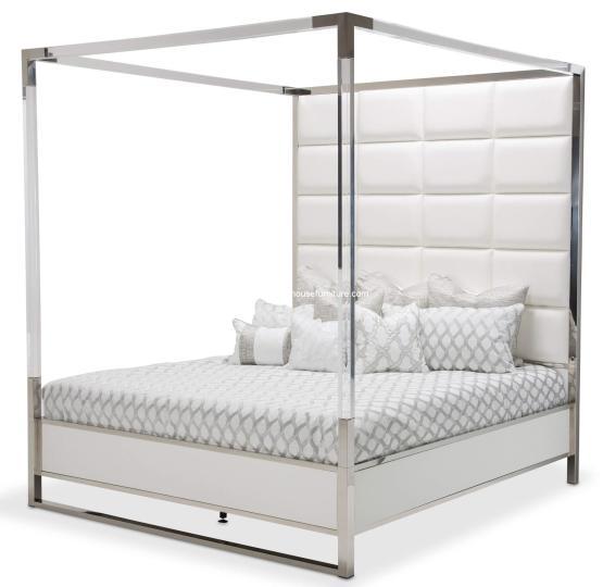Michael Amini StateSt Canopy Bed