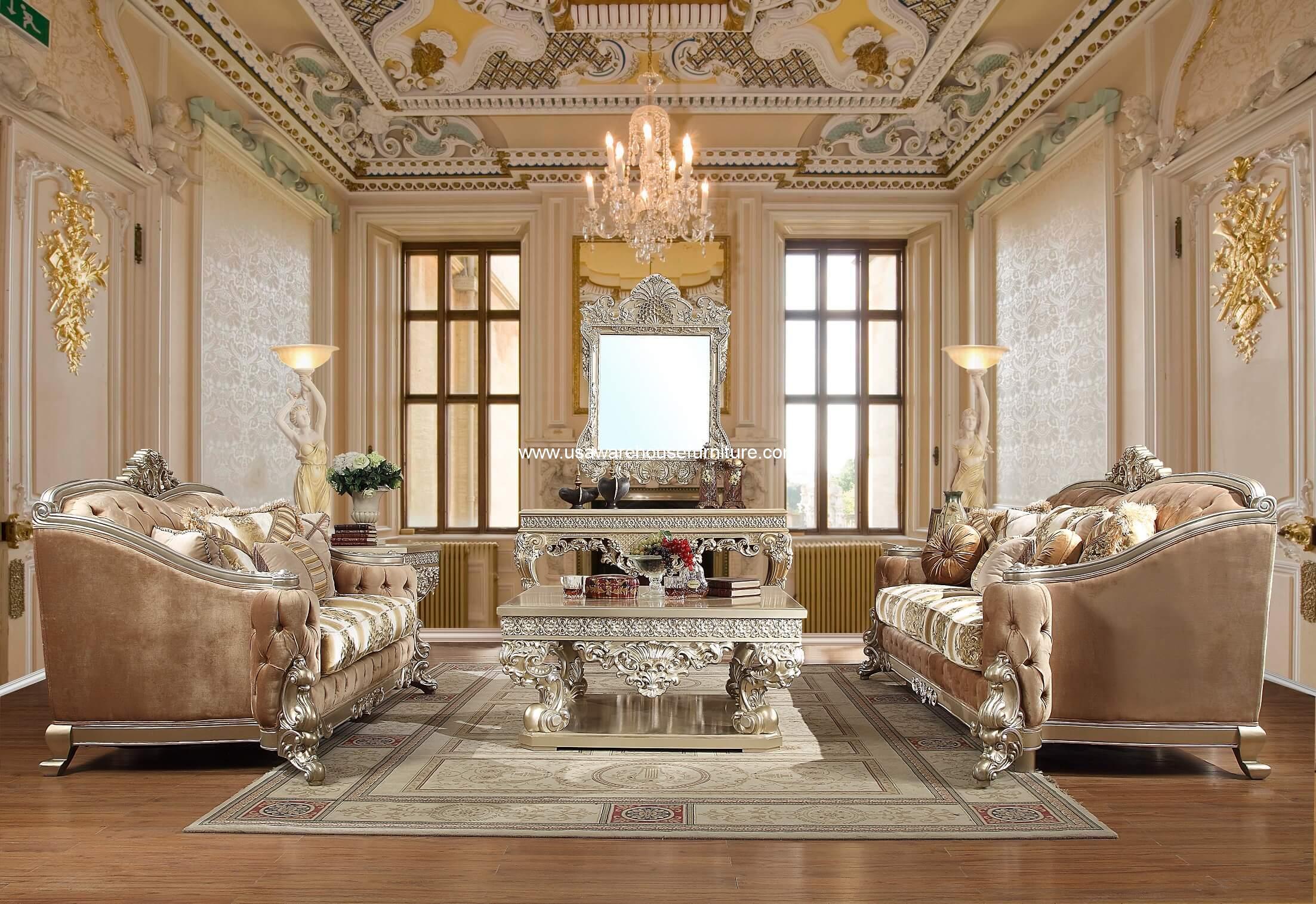 Royal Palace Sofa Set Homey Design Hd 820 Usa Warehouse Furniture