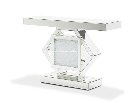 Micheal Amini Montreal Mirrored Console Table
