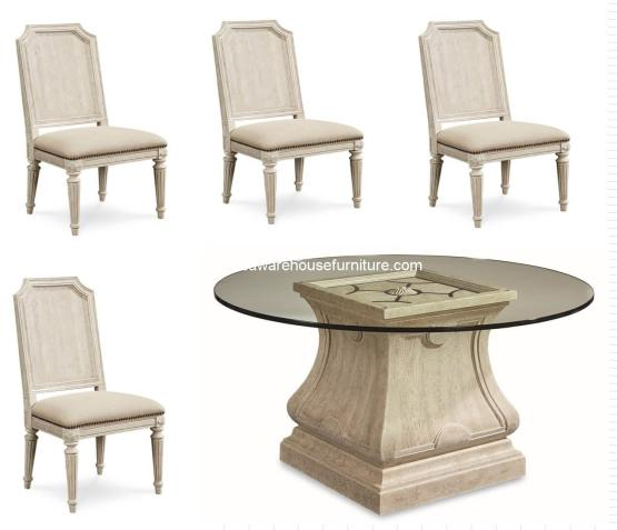 Arch Salvage Round Dining Set