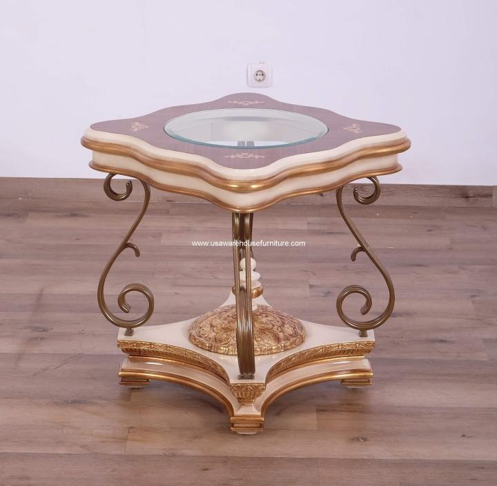 Valentine Glass Top End Table