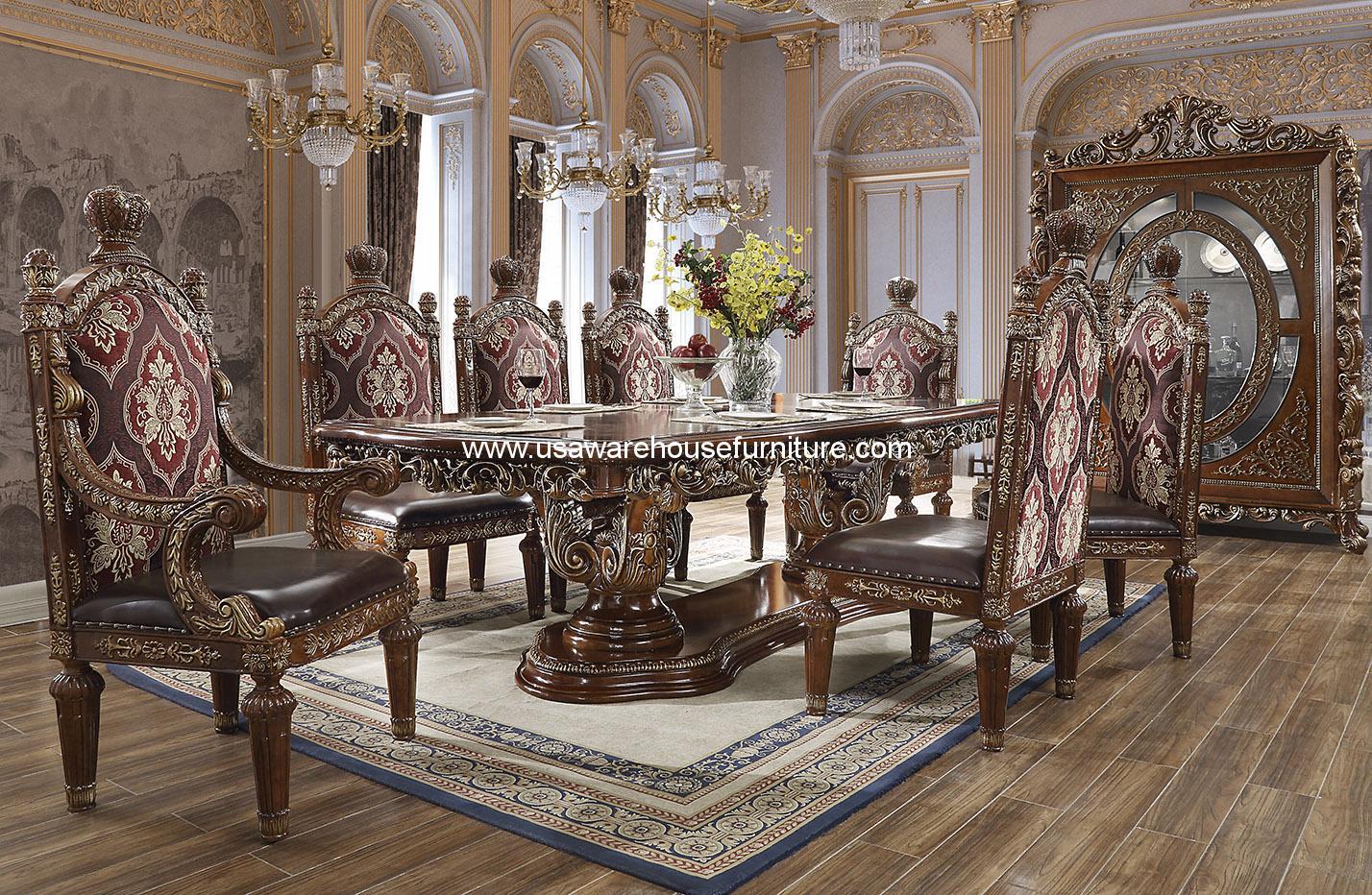 Hd 1804 Nathalia Victorian Dining Room Set Usa Warehouse Furniture