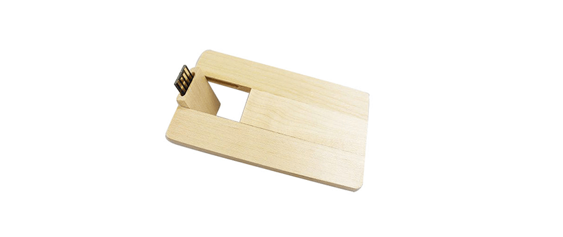 USB creditcard hout
