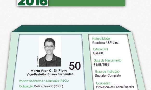 Conheça as propostas de Maria Flor Di Piero (PSOL)