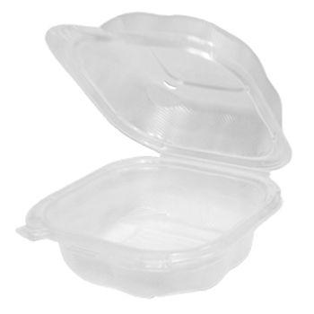 genpak clx225 cl clover sandwich hinged plastic container polypropylene 5 84 x 6 25 x 2 88 clear 400 case