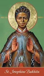 Saint Bakhita bilingual prayer card web