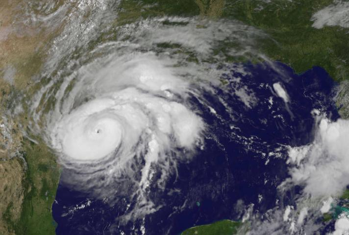 Hurricane Harvey satellite image from August 25, 2017.