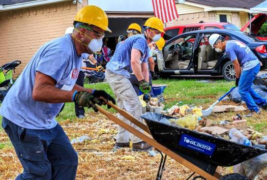 Clean up efforts in Texas.
