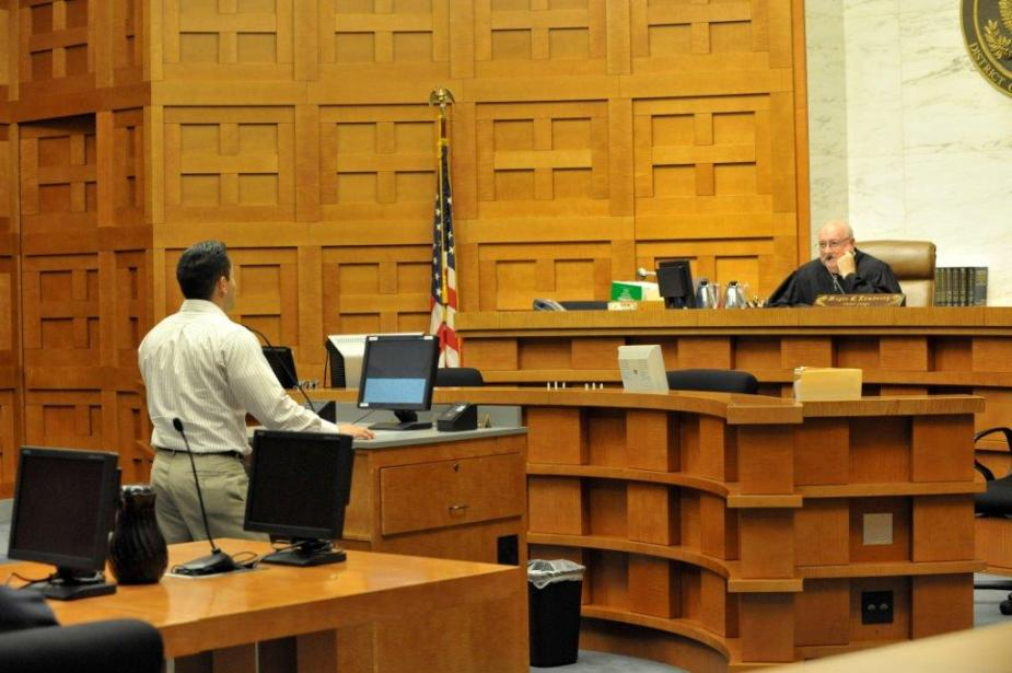 They get involved in realistic courtroom simulations as attorneys and jurors.