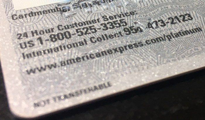 American Express 800 Number >> The Phone Numbers On The Back Of Your Credit Cards Us