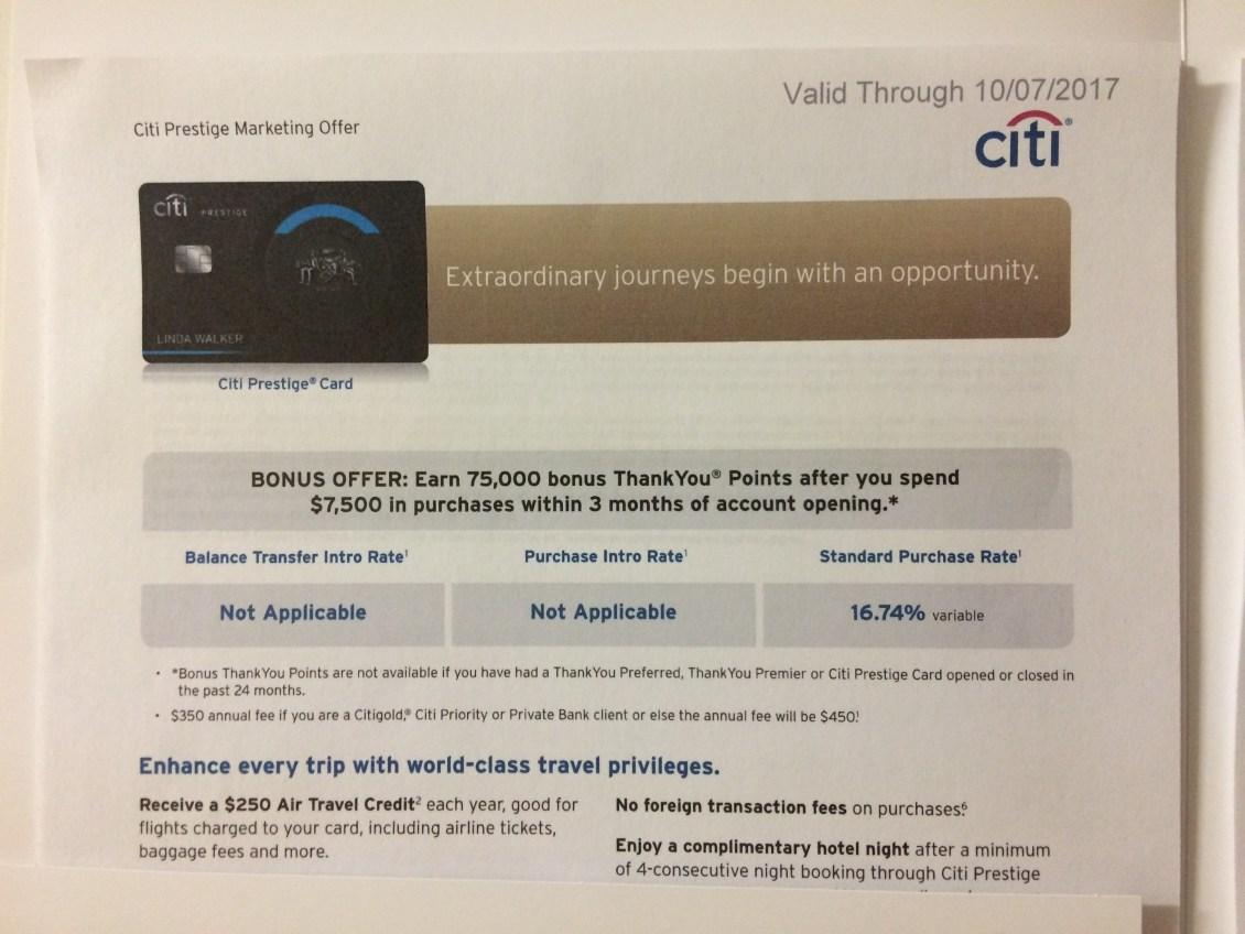 citi prestige credit card 2017 10 updated last chance to get 75k