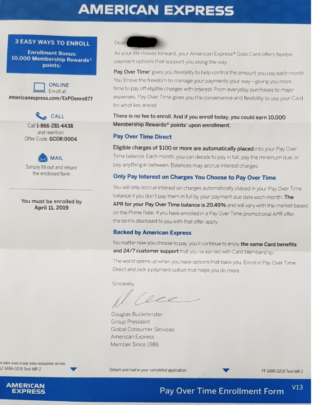 10k AmEx MR Per Account with Pay Over Time (Non-Unique Link