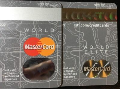 Word MaterCard v.s. World Elite MasterCard