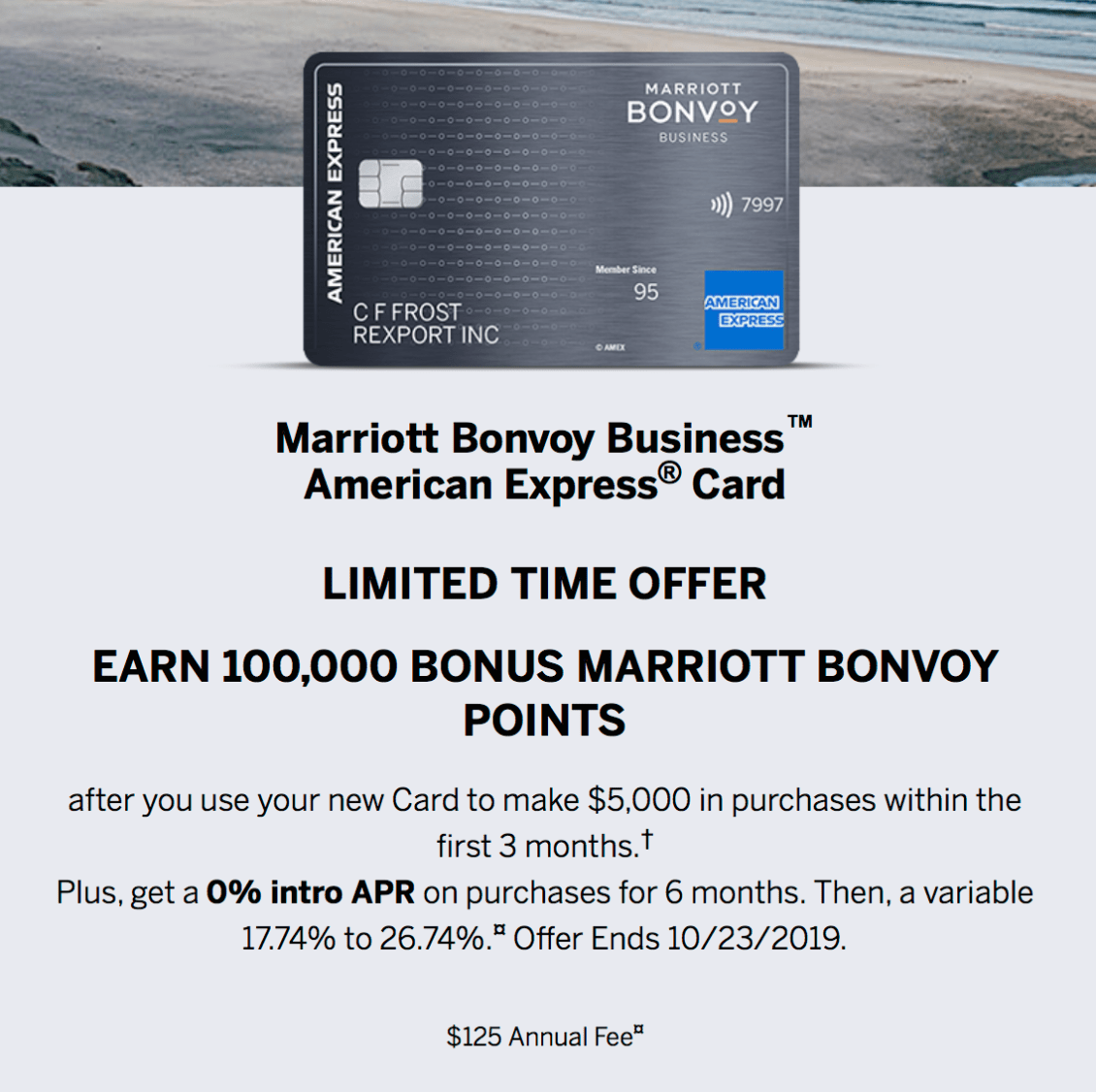 Amex Marriott Bonvoy Business Credit Card Review Formerly Amex Spg Business 2019 9 Update