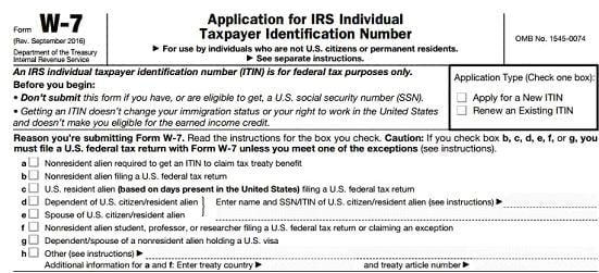 如何获得 ITIN —— 无 SSN 申卡秘籍