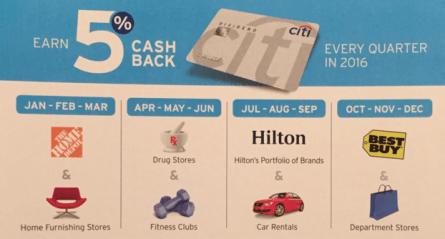 【9/15更新:Freedom Q4 5x开始激活】2016年信用卡季度5x返现总结