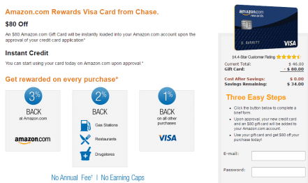 Chase Amazon Rewards 信用卡【1/11更新:全面升级,Amazon5%返现,无FTF】