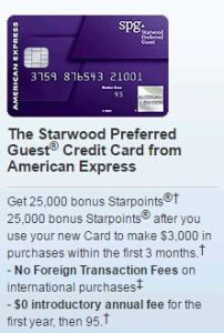 AMEX Starwood Preferred Guest (SPG)--I was Queen of the wild