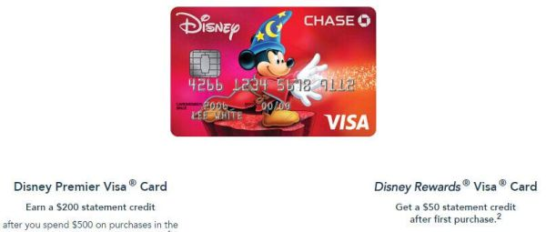 Series Chase Disney credit card, Debit card