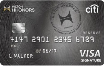 Citi Hilton HHonors Reserve 信用卡——周末的奢华【6/6更新:即将绝版,申请链接还在】