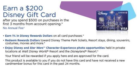 Chase Disney 系列信用卡、Debit卡介绍【6/22更新:无年费版有0GC开卡奖励】