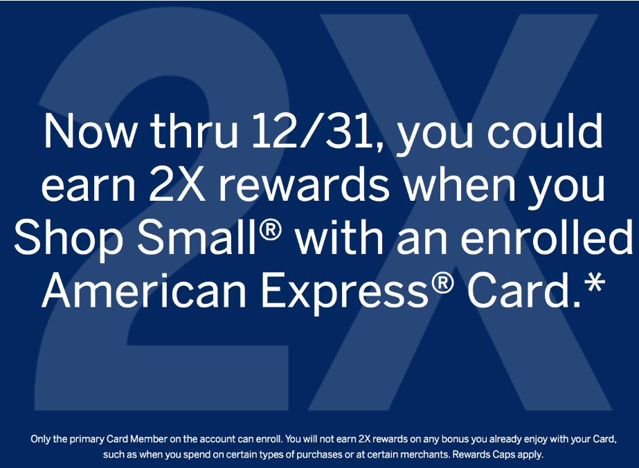AMEX Small Business Saturday 活动介绍【已过期】