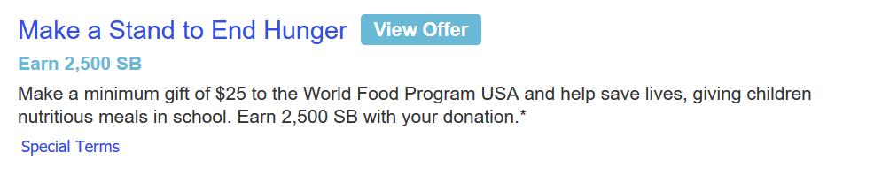 Swagbucks+WFP捐款=倒赚+减税【11/14更新:SB诚不欺我】