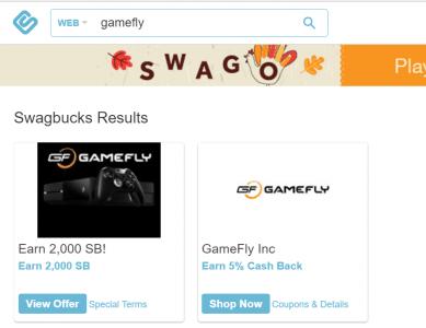 Swagbucks+Gamefly=倒赚+游戏免费玩【3/23更新:限时最高2500SB!】