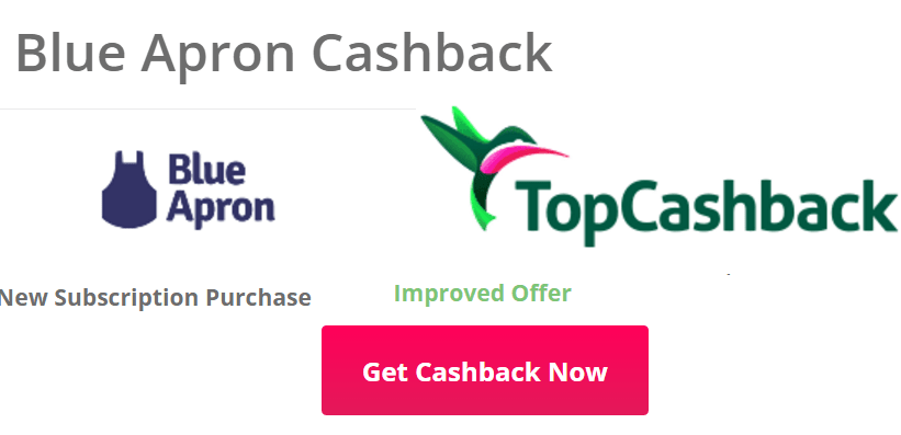 Topcashback/Swagbucks+BlueApron=免费食材+倒赚【4/27更新:送2000SB offer】
