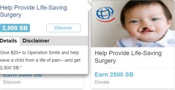 Swagbucks+Operation Smile捐款=倒赚