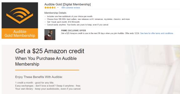 免费获取2个月audible gold会员+ amazon credit【更新详细步骤】