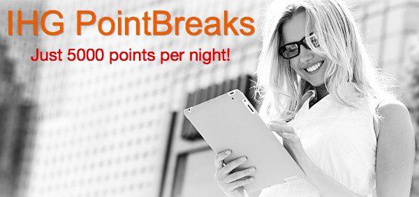 IHG-Point Breaks!5k点促销兑换活动!2017Q2