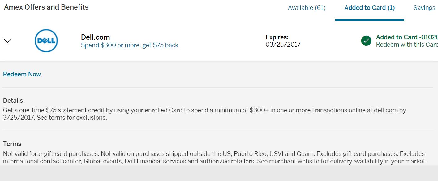 最新好AMEX Offer 汇总与使用【3/27更新:小offer简评】