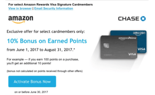 Chase Amazon Rewards 信用卡【8/23更新:AmazonFresh额外10%返现】