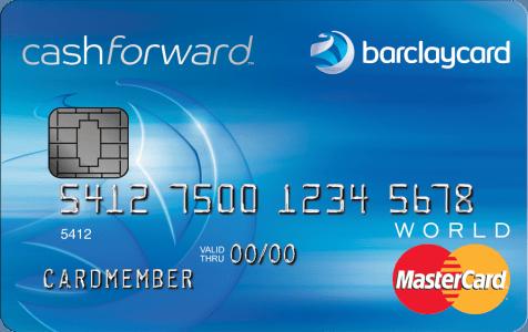 Barclays CashForward credit card limit [0] open card rewards