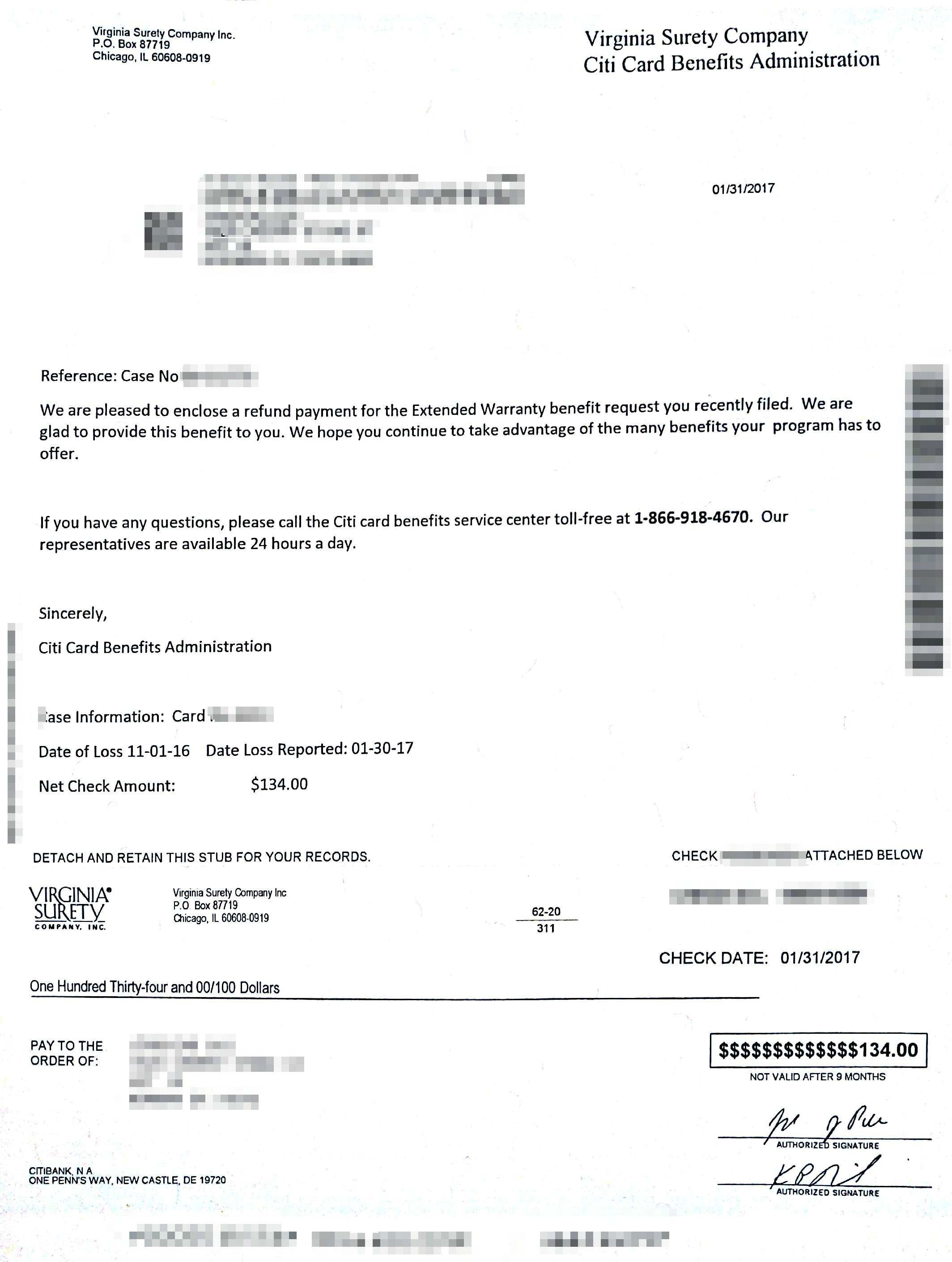Citi Extended Warranty实战!花旗银行信用卡附带延保!