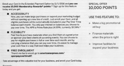 AMEX Pay Over Time 活动介绍【2/23更新:两个新的10k奖励链接】