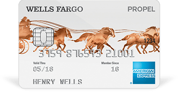 Wells Fargo Propel (AMEX Edition) credit card limit [0] reward