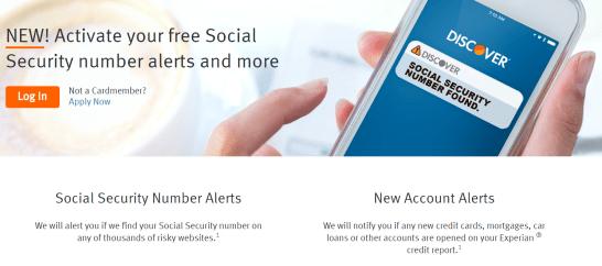 Discover IT信用卡【7/20更新:新增SSN保护和新账户提醒福利】