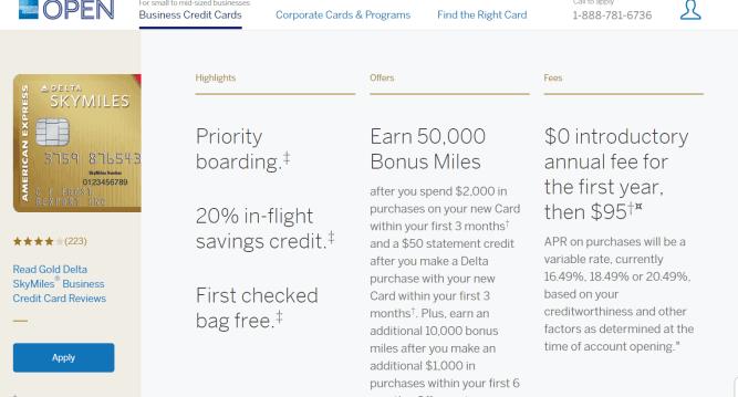 AMEX Gold Delta SkyMile Business 商业信用卡【3/1更新:60k+史高开卡奖励】
