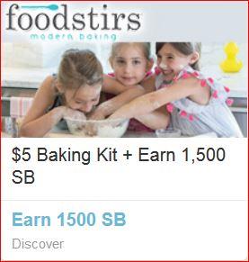 Swagbucks + foodstirs = Baking kit(烘焙工具套装) + 1500 SB