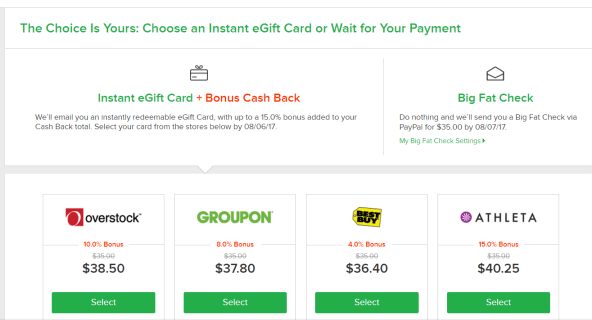 Net cash back Ebates Guide [8/3 Update: cashback exchange Gift Card Bonus]