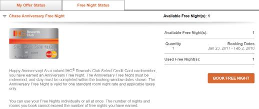 如何兑换 Chase IHG 信用卡送的 Free Night (附兑出00+方法)【8/10更新:一个小技巧】