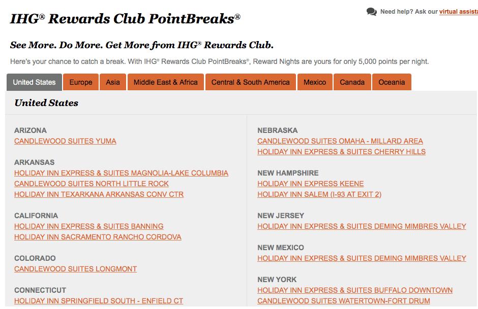 IHG铁粉经验分享系列(一):PointBreaks【7/31更新:新的一期兑换正式开始啦】