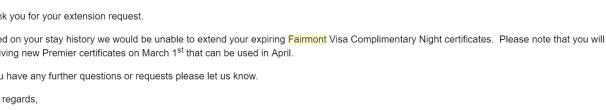 Fairmont 免房券和升房券使用指南【2/28更新:免房券和其他券延期】