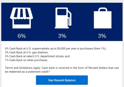 AMEX Blue Cash Preferred信用卡【11/15更新:新申请用户将无Department Store 3%返现】