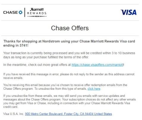 Chase Offer 使用指南【10/28更新:大新闻,11月将普及到所有chase卡】
